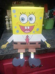 Weston's Spongebob Valentine's Day card box for preschool My Funny Valentine, Valentine Day Boxes, Valentines For Boys, Valentine Ideas, Valentines Day Activities, Valentine Crafts, Holiday Crafts, Holiday Fun, Holiday Ideas