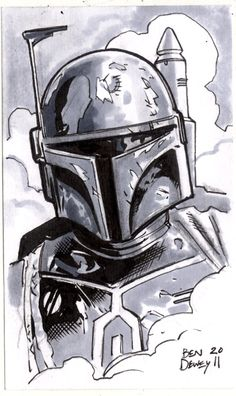 """Boba Fett"" - Dewey Draws!: Star Wars Sketchcard Frenzy!"