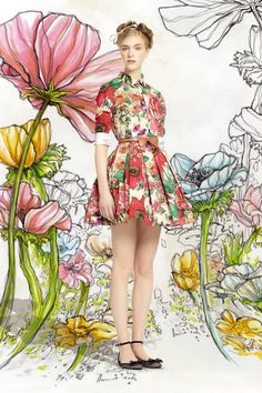 Kırmızı Valentino İlkbahar 2014 Koleksiyonu