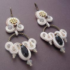 Cream Soutache Earrings by jodihorgan on Etsy, $95.00