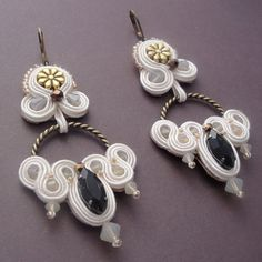 Cream Soutache Earrings