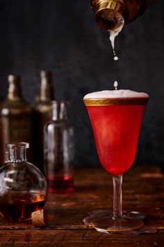 Fizzing Whizbees Levitator | It's time to celebrate your inner wizard. Levitate from the ground with this delicious, bubbly cocktail made from Pop Rocks and Zotz candy, the closest things we muggles have to Fizzing Whizbees. It's sweet, tart, and pops and fizzes with each sip.