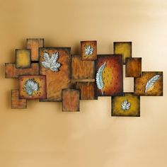 Metal Leaves  Abstract Wall Art Panel *** Find out more about the great product at the image link. (This is an affiliate link and I receive a commission for the sales)