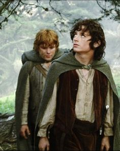 Sean Astin & Elijah Wood in Lord of the Rings.   I love them they're my favorite actors :) <3