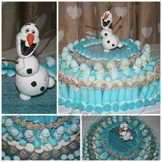 Tarta de chuches Olaf de Frozen