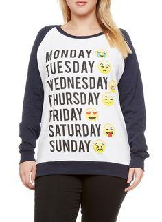 Weekday Emoji sweater