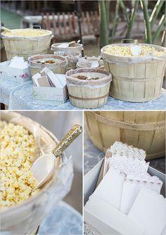 reception popcorn bar @weddingchicks