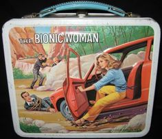 The Bionic Woman Vintage lunchbox Retro Lunch Boxes, Lunch Box Thermos, Cool Lunch Boxes, Metal Lunch Box, Whats For Lunch, Out To Lunch, Retro Toys, Vintage Toys, Vintage Metal