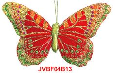 The Iridescent Glitter red artificial butterflies are the elaborately handcrafted butterflies with exquisite design.Beautiful Feather Butterflies in assorted colors and sizes! Artifical Butterflies-Decorative Butterflies-Fake Butterflies-Floral Crafts.