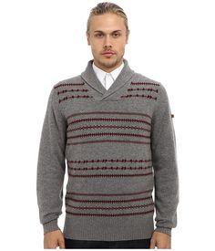 Ben Sherman Fairisle Shawl Collar Sweater ME10742