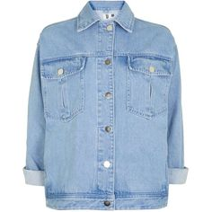 Rushmore Jacket by Unique (400 BRL) ❤ liked on Polyvore featuring outerwear, jackets, blue, beaded denim jacket, cotton jacket, blue cotton jacket, beaded jacket and blue jackets