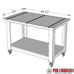How To Build a Table Saw Outfeed Table Woodworking Assembly Table, Woodworking Workbench, Easy Woodworking Projects, Woodworking Shop, Build A Table, Diy Table, Tablesaw Outfeed Table, Workbenches, Home Made Table Saw