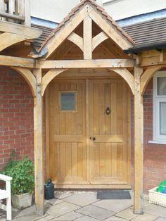 WOODEN LUXURY GREEN OAK PORCH FRONT DOOR CANOPY HANDMADE   eBay Front Door Canopy, Porch Canopy, Porch Uk, Stone Porches, House Front, Porch Ideas, Door Ideas, Shed, Exterior