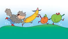 """""""Il lupo mangiafrutta""""  di Laura Marcora, disegni: Nicoletta Costa    www.galluccieditore.com/391.htm"""