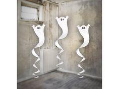 Spøgelses hvirvleren måler 90 cm. i længden - perfekt til halloween, horrornights eller lignende.