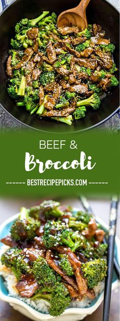 Beef and Broccoli stir fry makes the perfect dish when that takeout craving hits! Best of all this skinny-version is SO easy and flavorful and much h&; Beef and Broccoli stir fry makes the perfect dis Steak And Broccoli, Broccoli Stir Fry, Broccoli Recipes, Sunday Recipes, Healthy Dinner Recipes, Weekly Recipes, Lunch Recipes, Fall Recipes, Healthy Meals