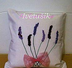 Úžitkový textil - Obliečka na vankúš - levanduľa - 8384175_