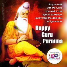 As you walk with the Guru, you walk in the light of existence, away from the darkness of ignorance. #HappyGuruPurnima