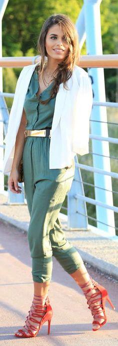 1e212b26e439 23 Best Jumpsuits with Blazers images | Feminine fashion, Court ...