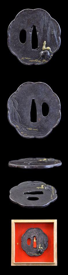 Iron tsuba.