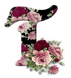 Buchstabe / Letter - T (Rosen / Roses)