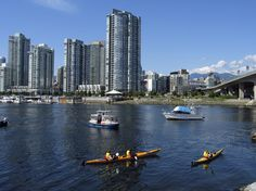 Kayaks in False Creek.