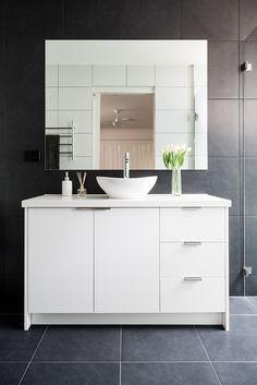 Albedor Thermo Formed doors Holly in Gloss White What Is Trending Now, Decorative Panels, Classic White, Double Vanity, Bathrooms, It Is Finished, Doors, Mirror, Furniture