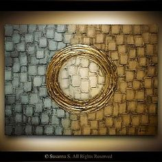 Abstract Art Abstract Paintings Original Art Online by Susanna Shap ModernHouseArt Abstract Paintings, Abstract Art, Geometric Painting, Cuadros Diy, Original Art, Original Paintings, Gold Leaf Art, Texture Painting, Art Online