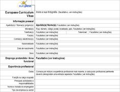 Europass: Curriculum vitæ @ Cedefop. http://europass.cedefop.europa.eu/pt/documents/curriculum-vitae/templates-instructions