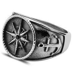 Buy Lucleon - Leon Silver-Toned Gravel Ring for only Shop at Trendhim and get returns. Ring Size Guide, Titanium Rings, Stainless Steel Rings, Engraved Rings, Fashion Rings, Rings For Men, Cool Mens Rings, Titanic, Man Stuff