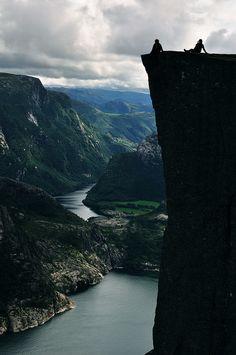 Pulpit Rock (Preikestolen), Norway-  via Flickr.