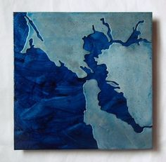 Shoply.com -San Francisco Ice Blue Metal Map 8 inch. Only $125.00