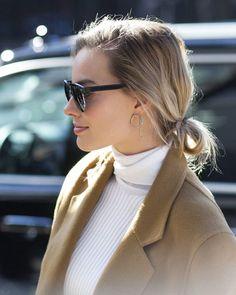 "dailymrobbies: "" Margot Robbie in New York City for Calvin Klein's fashion show, February 18th, 2016 """
