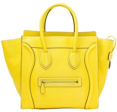 Cline Mini Luggage Tote Yellow Citron Satchel. Save 48% on the Cline Mini Luggage Tote Yellow Citron Satchel! This satchel is a top 10 member favorite on Tradesy. See how much you can save