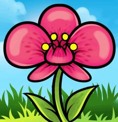 How to Draw an Orchid For Kids, Step by Step, Flowers For Kids, For Kids, FREE Online Drawing Tutorial, Added by Dawn, May 19, 2013, 7:20:01 pm