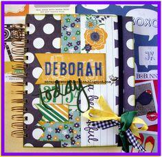 Agenda personalizada scrapbooking: Deborah, la más alegre para ti