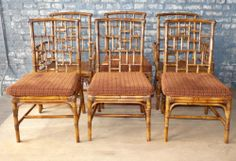 Quality Set of 6 Rattan Bamboo Dining Arm Chairs Bamboo Dining Chairs, Dining Arm Chair, Stow Away, Milling, Rattan, Photo Record, Basement, House, Furniture