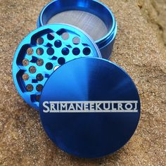 Blue Multi-Tooth Custom Herb Grinders Th.is smoking accessory is one of the most badass top shelf grinders in the cannabis industry today to make your own grinder