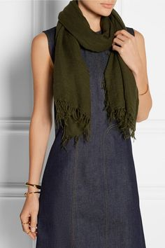 Chan Luu | Cashmere and silk-blend scarf | NET-A-PORTER.COM