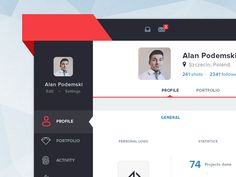 Hi guys,  I've made this screen to revive my Dribbble profile. It's just the result of free weekend and I came up with idea to make a profile page of something like design community portal. I attac...
