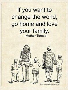 Mother Teresa love family home