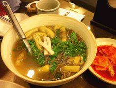 korean cold buckwheat nooodles with tofu