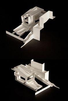 "fabriciomora: "" JV House in Murtal "" Architecture Model Making, Architecture Concept Drawings, Conceptual Architecture, Architecture Details, Interior Architecture, Model Sketch, Arch Model, Paper Models, Design Process"