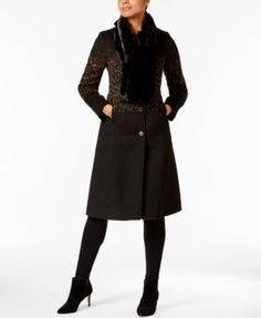Jamila black shaggy faux fur jacket