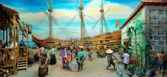 Manila Galleon SceneCirca fabulous wealth that lured the adventurous among the Spanish settlers was still a myth years after Legaspi had establishe. Google Art Project, Human Condition, Historian, Manila, Art Google, Diorama, Spanish, Artisan, Scene