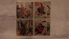 The Amazing Spider-Man Ceramic Tile Coasters Set of 4, Comic Book Art, Marvel Comics, Handmade by ComicBookCreations01 on Etsy