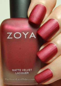 The TraceFace Philes: Zoya Matte Velvet Collection and GIVEAWAY! Zoya Posh