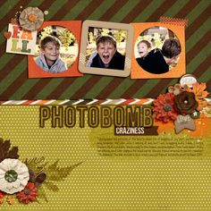 Photobomb Craziness by jk703 Everyday October by Juno Designs - http://scraporchard.com/market/Everyday-Life-October-Bundle-Digital-Scrapbook-Bundle.html Font is KG Feeling 22 TFL!