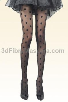 black polka dot tights #pantyhose #sexy #ladies #women #ladyproducts #lush #smooth #fashion #stunning #legs #glamour