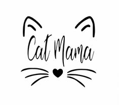 CAT MAMA vinyl decal sticker for DIY craft projects … car decal, laptop sticker, mug accent and more. Crazy Cat Lady, Crazy Cats, Mama Cat, Cat Signs, Face Stickers, Cat Quotes, Cat Drawing, Cat Face, Dog Mom